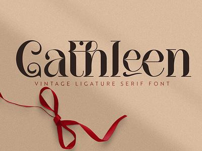 Cathleen|Vintage Ligature Serif Font vintage font modern font serif font branding font ui illustration design