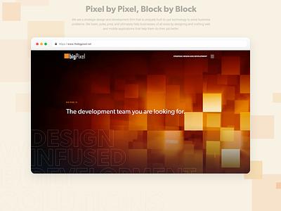 The Big Pixel webdesign landing page branding design