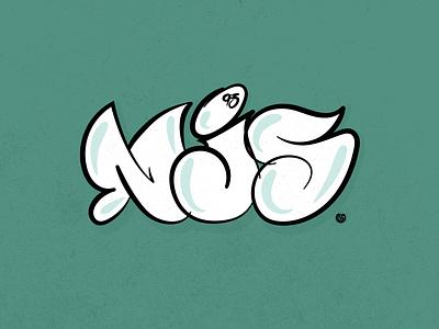 NJS Throwie design illustration