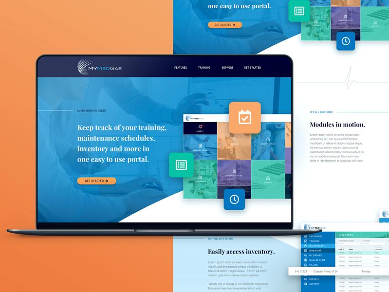 My Med Gas landing page design