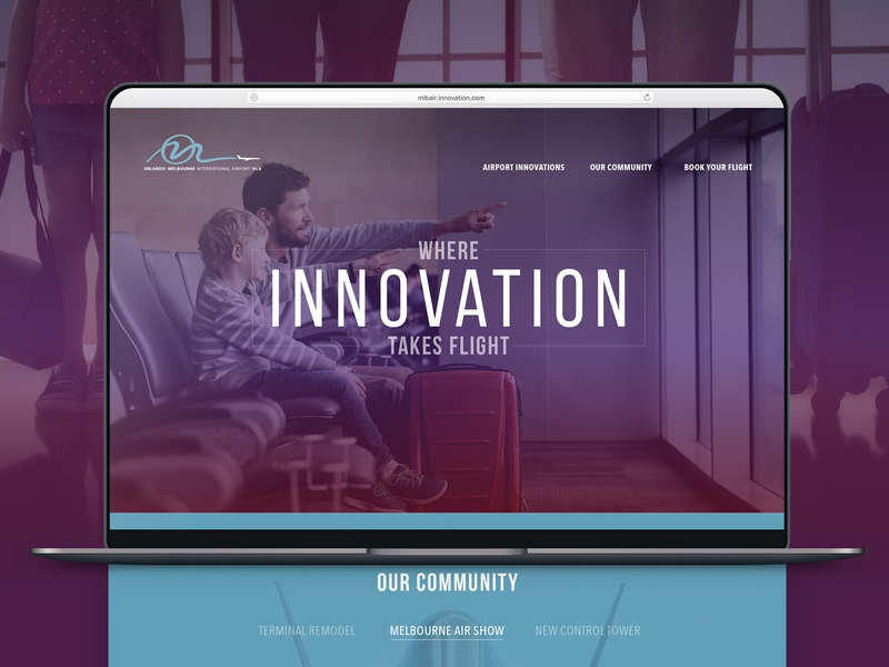 Where Innovation Takes Flight landing page branding graphic design advertising campaign art direction