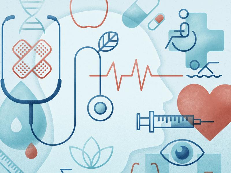 Health & Wellness Illustration advertising vector illustration design