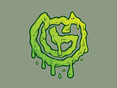 GV Slime sticker vector illustration logo branding design