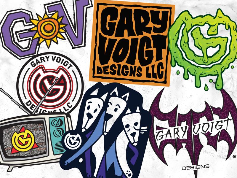 Skate Stickers Repurposed vector illustration logo branding design