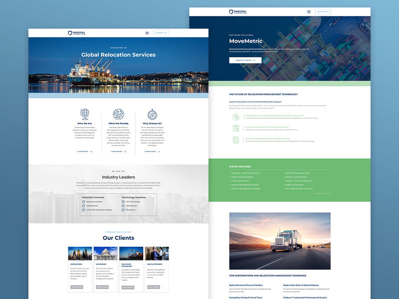 Parsifal Corporation ui website design logo branding design