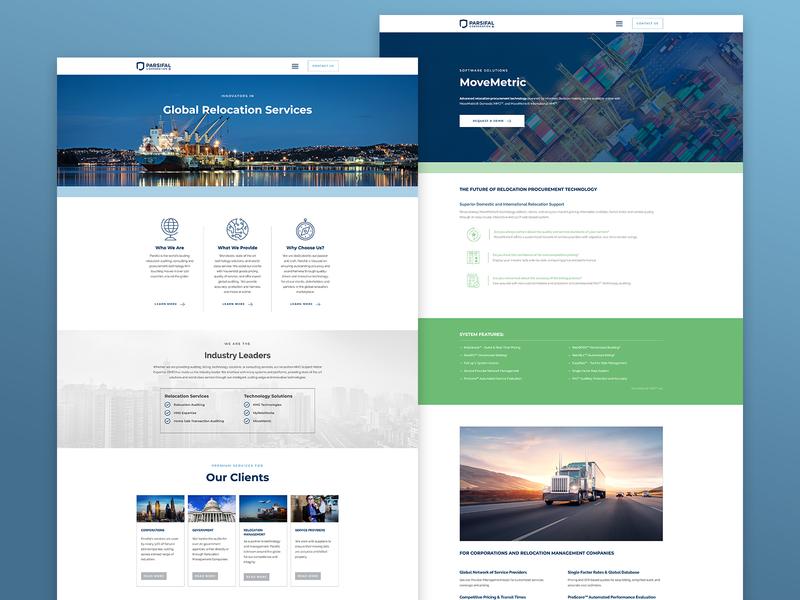 Parsifal Corporation ui website design logo branding design