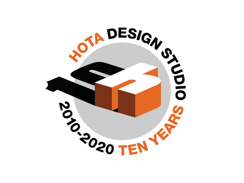 HOTA 10 Years vector logo branding design