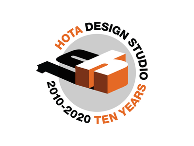 HOTA 10 Years vector logo branding design