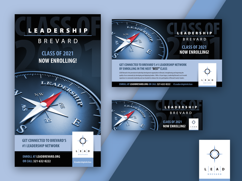 LEAD Brevard Enrollment Ads campaign design advertisement branding design