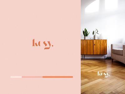 Kosy Brand Concept logo design color palette branding color