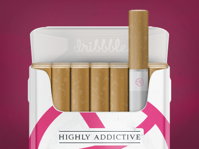 Dribbble Invite Giveaway - Highly Addictive cigarette dribbble invite giveaway dribbble addictive smoke package invite competition