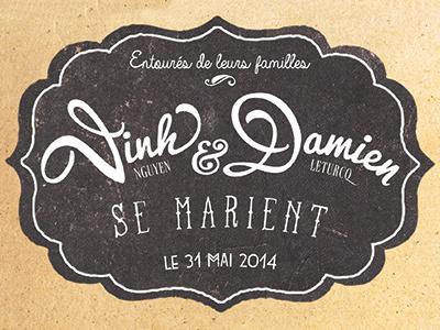 wedding invitation font print illustration