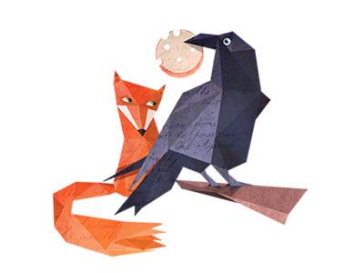 le corbeau et le renard illustration