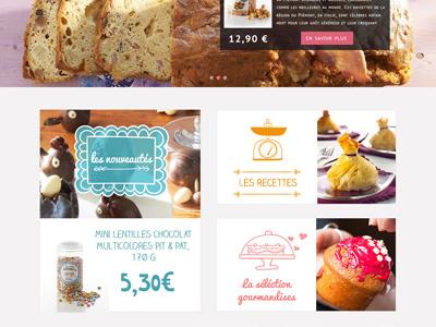 Gourmandise website cook kitchen