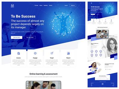 Online Class Landing Page Design uiux landing page 3d animation motion graphics adobe graphic design logo design ux ui website illustration branding web design