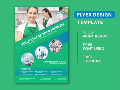 Free Cleaning Services Flyer Template sanitary templates housekeeping service cleaning vector brochure illustrator graphicdesigner banner desing flyer flyerdesign design branding flyers