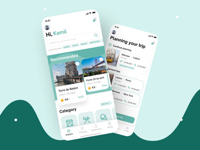 Planning trip mobile app android ios category country plan planning mobileapp figma trip travel mobile design interface app ux ui