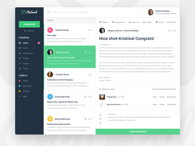 Chatmail - Simple email app web simple clean ux ui app email desktop