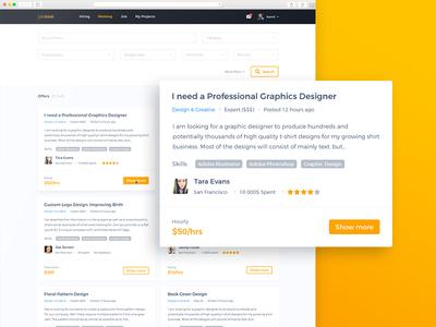 Web Service for Freelancers service freelance site web design ux ui