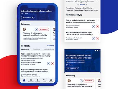 TOK FM - Dashboard dashboad interace radio ios android design app mobile interface ux ui