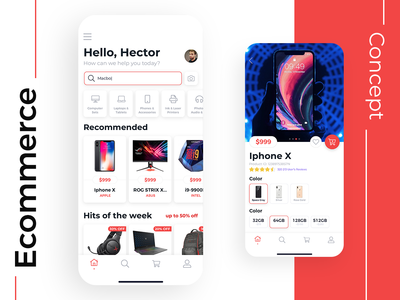 Mobile App for Electronic Store sketch product card product electronics shop ecommence ios mobile design interface ux app ui