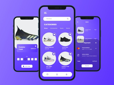 Concept Shopping App shoes shopping icon mobile minimal logo ui design app