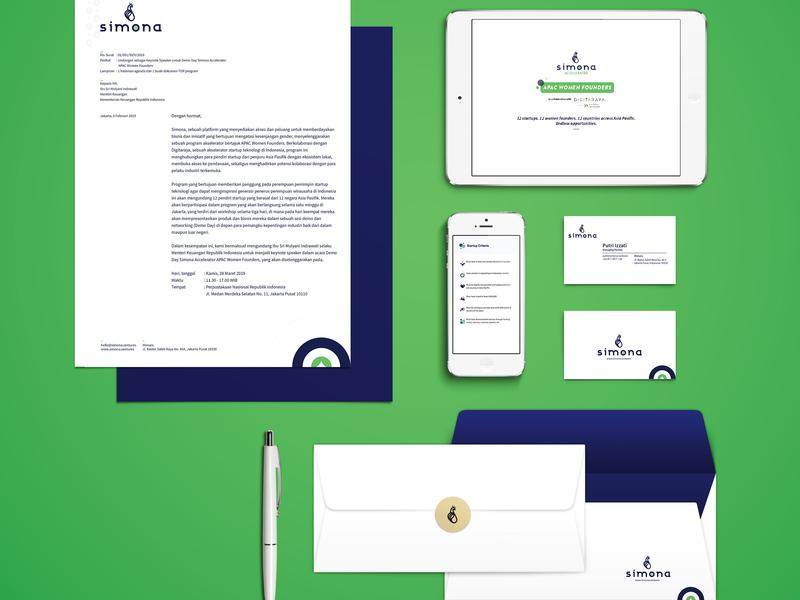 Simona Branding logo branding vector design
