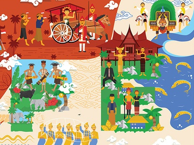 HOPE design adobe illustrator illustraion heritage indonesia cultural people vector