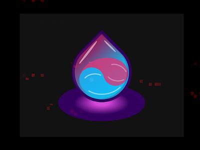 CSS Glowin Drop version illustration gradients html css design