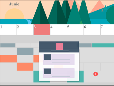 Google material flat animation html css design