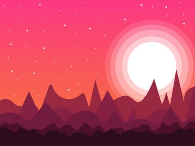 Strange desert blend illustration design