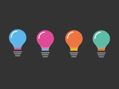 Blend bulbs blend gradients illustration design