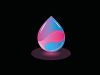 Glowing drop