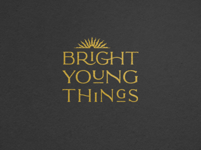 Bright Young Things theater branding logo print graphic design