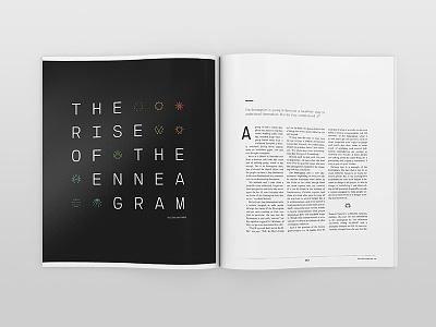 RELEVANT Magazine The Enneagram layout magazine design print