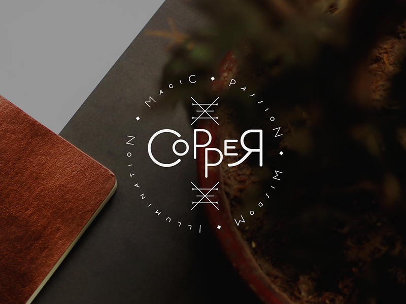 Copper copper logotype logo