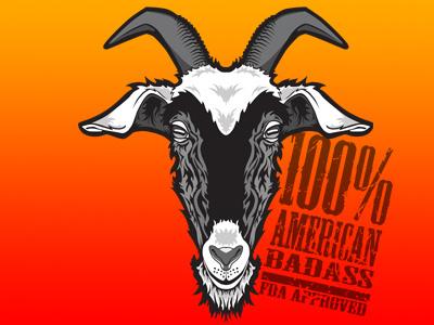 100% AMERICAN BADASS / FDA APPROVED goat american badass 100 orange ziege farm animal grey america düsseldorf usa