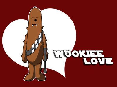Wookiee Love chewbacca wookiee chewy star wars love illustration starwars movie character design jedi rebel alliance