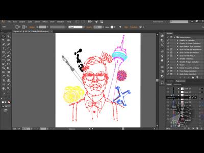 Creative's Night Out Vector nrw germany nordrhein westfalen düsseldorf tablet wacom cintiq creative cloud illustrator hipster adobe