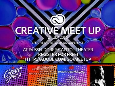 Creative Meet Up Conference - July 2nd - Düsseldorf köln nordrhein westfalen duetschland germany düsseldorf dribbble meetup conference adobe
