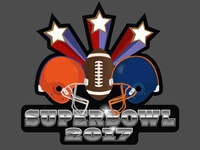 Super Bowl Party Logo