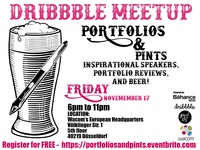 Dribbble MeetUp: Portfolio & Pints Edition