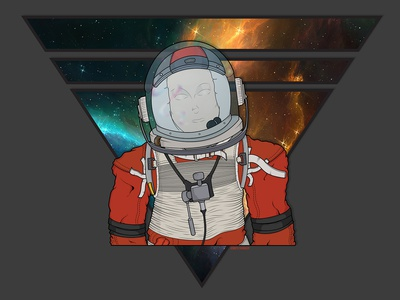 Major Tom david bowie outspace space suit stars vector art major tom spaceman concept art logo galaxy space astronaut