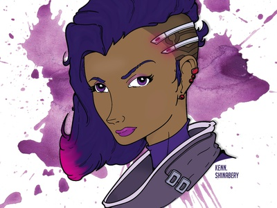 Overwatch: Sombra 2.0 (VECTOR GRAPHIC) game artist game art video game gamer blizzard character art character design blizzard entertainment overwatch sombra