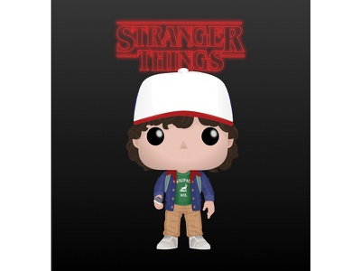FunkoPop: Stranger Things Dustin vector graphics product design vector illustration vector art character design fan art toy dustin netflix stranger things funko pop vectornator funko