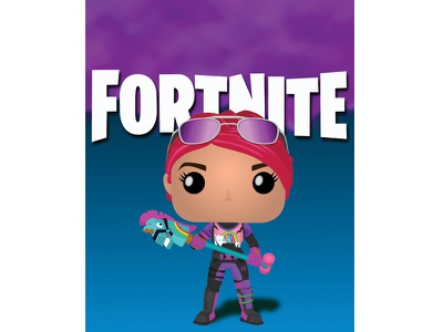 FunkoPop: Fornite's Brite Bomber ipad pro ipad vector game art fan art illustration epic games vectornator funko pop brite bomber fornite funko