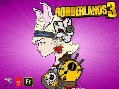 Adobe Fresco: Borderlands 3 game artist game art wacom adobe tiny tina character design