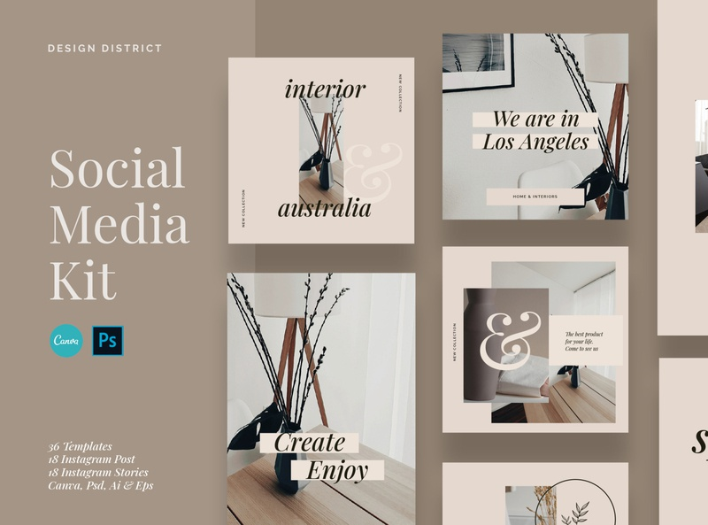 Instagram Branding Template canva template canva store shop business influencer blogger design interior clothing branding fashion feminine instagram template post stories instagram social media media social