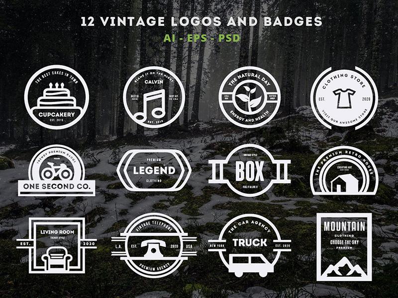 304f5c2d65a Vintage Logo   Retro Badge by Design District