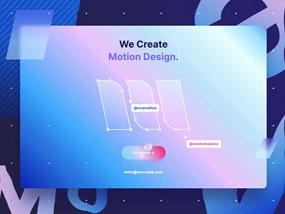 MorvaLab - Digital Design Agency studio app fancy minimal clean icons motion web uxdesign ui design team gradient website trends landingpage ui agency design lab morva